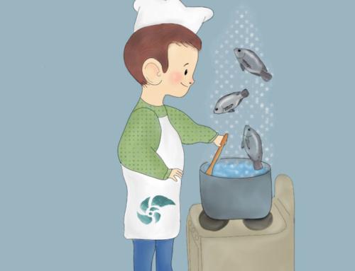 El recetario ilustrado para que los niños cocinen pescado