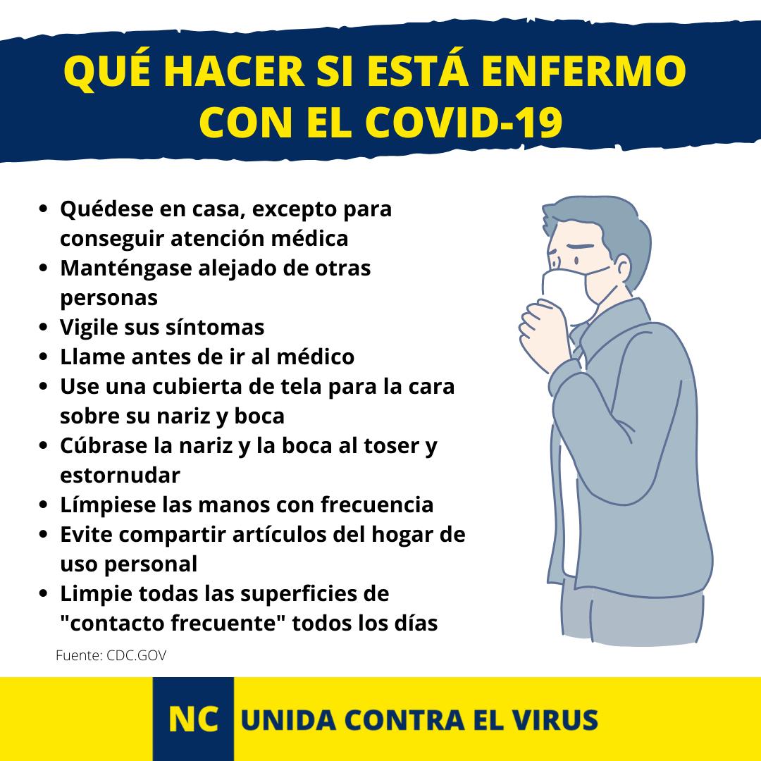 NC UNIDA CONTRA EL VIRUS. Que hacer si esta enfermo