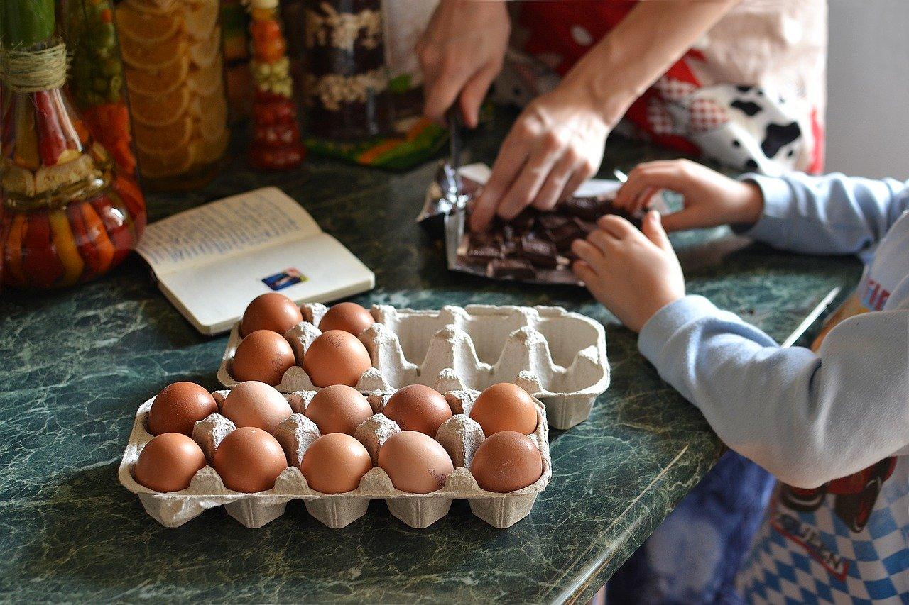Preparacion de comidas en familia