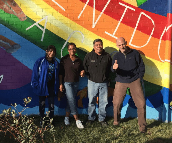 Artists Estephani Sanchez, Tonnie Markham, Cornelio Campos and Luke Smith