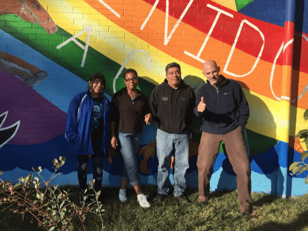 Artists Estephani Sanchez, Tonnie Markham, Cornelio Campos and Luke Smith